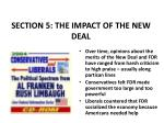 section 5 the impact of the new deal