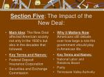 section five the impact of the new deal