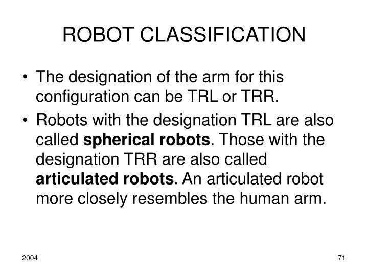 ROBOT CLASSIFICATION