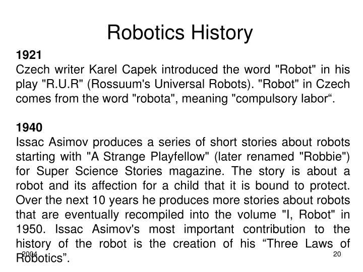 Robotics History
