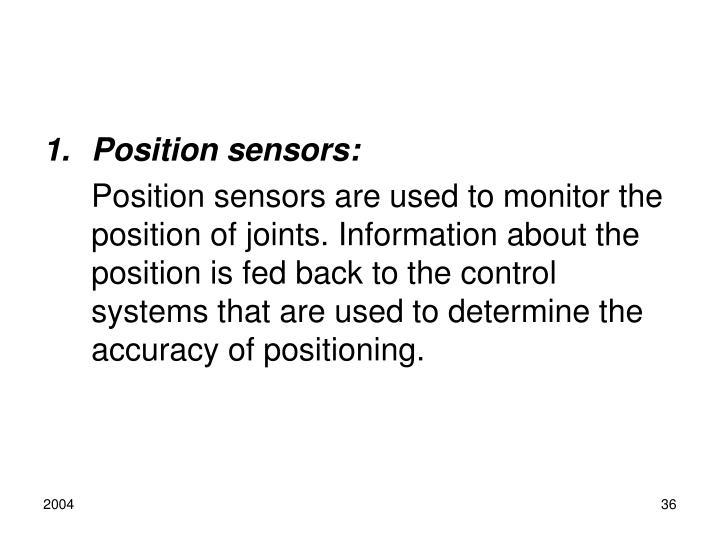Position sensors: