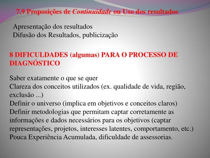 7.9 Proposições de
