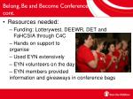 belong be and become conference cont
