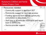 kununurra children and family centre project cont