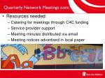 quarterly network meetings cont1