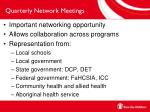 quarterly network meetings