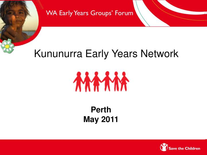 WA Early Years Groups' Forum
