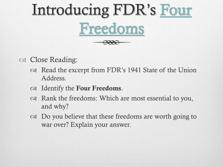 Introducing fdr s four freedoms