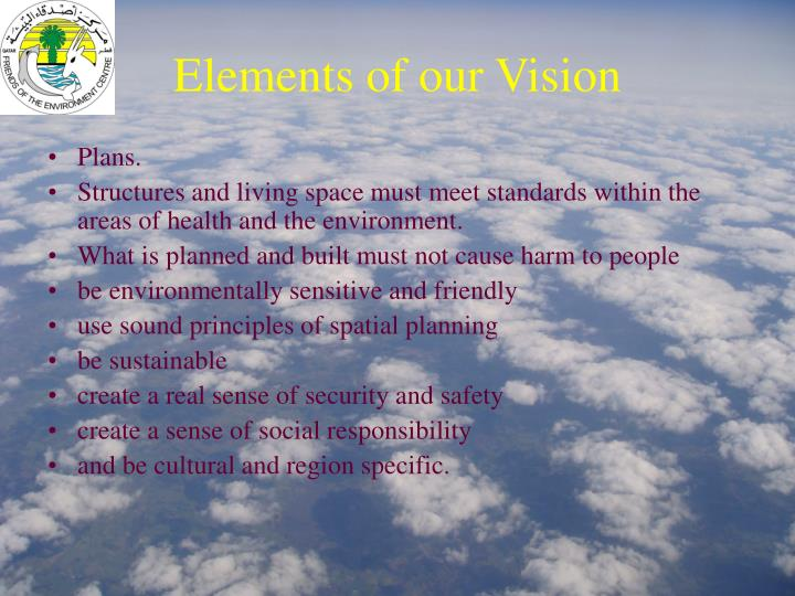 Elements of our Vision
