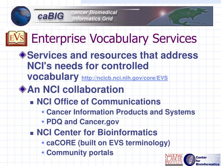 Enterprise Vocabulary Services