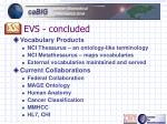evs concluded
