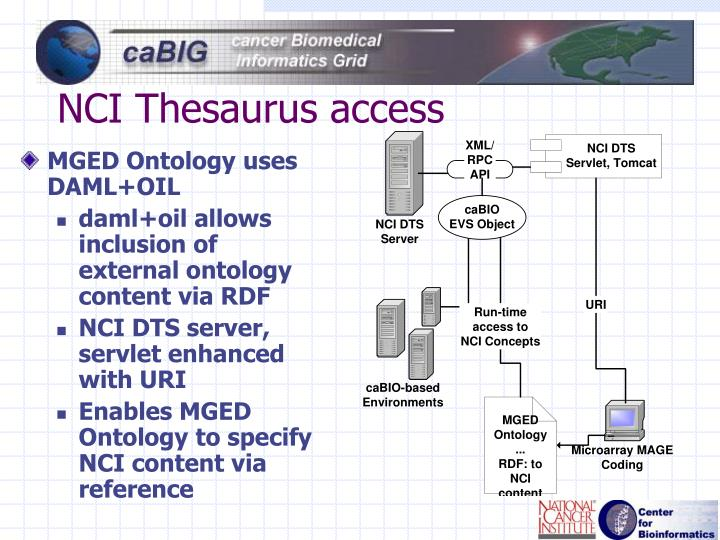 NCI Thesaurus access