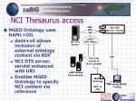 nci thesaurus access