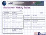 structure of history tables