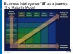 business intellegence bi as a journey the maturity model