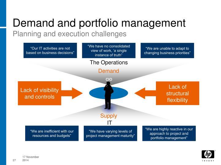 Demand and portfolio management