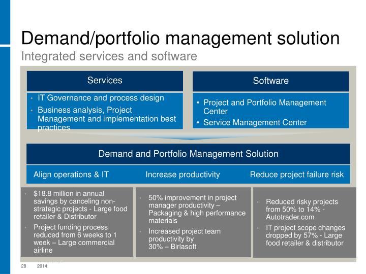 Demand/portfolio management solution