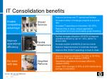 it consolidation benefits