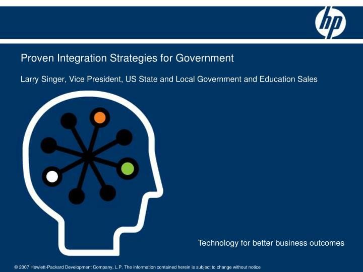 Proven Integration Strategies for Government