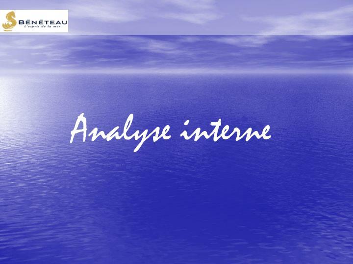 Analyse interne