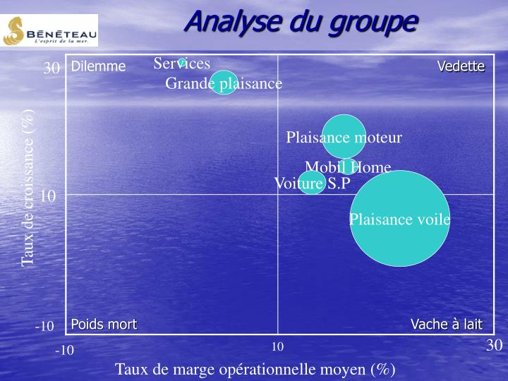 Analyse du groupe