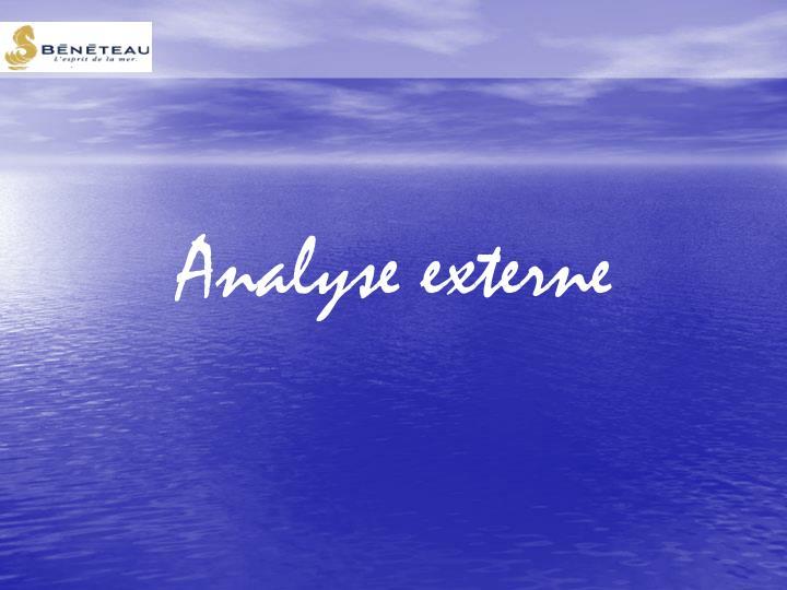Analyse externe