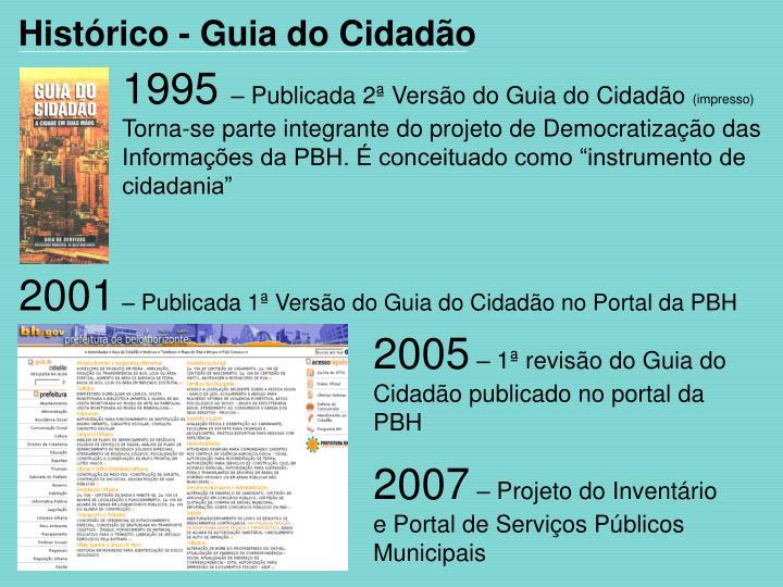 Histórico - Guia do Cidadão