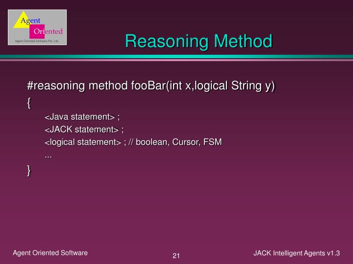 Reasoning Method