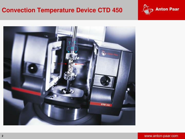Convection temperature device ctd 450