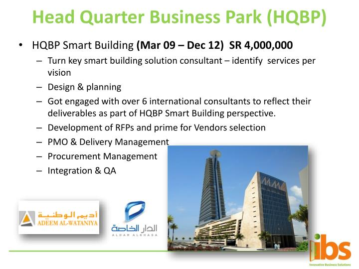 Head Quarter Business Park (HQBP)