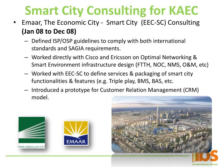Smart City Consulting for KAEC