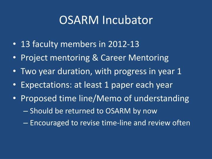 OSARM Incubator