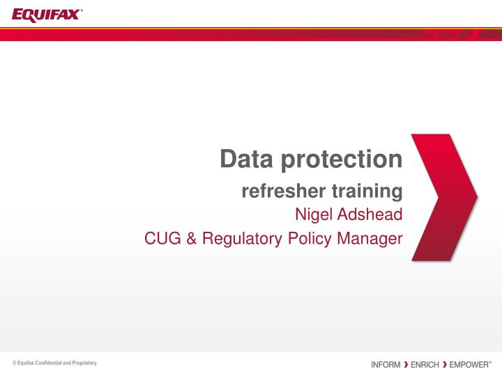 data protection refresher training