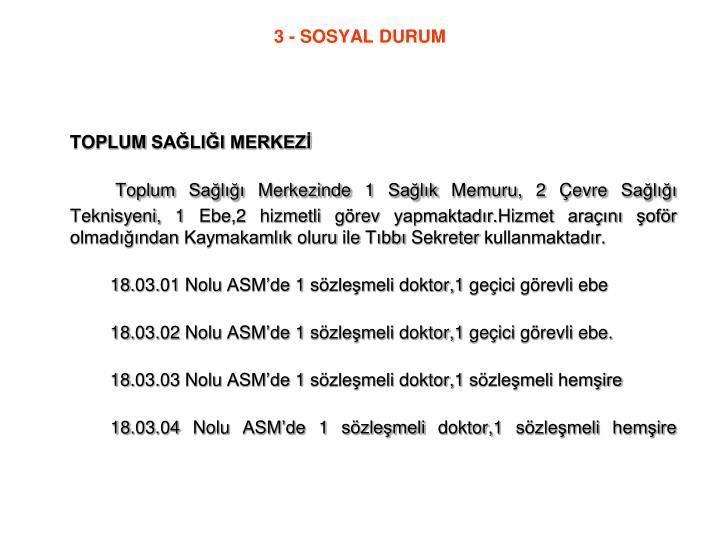 3 - SOSYAL DURUM