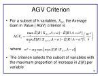 agv criterion