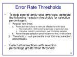 error rate thresholds