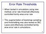 error rate thresholds1