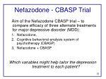nefazodone cbasp trial