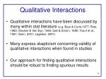 qualitative interactions