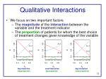 qualitative interactions1