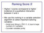 ranking score s1