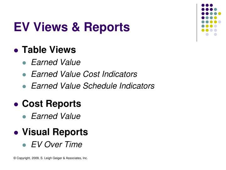 EV Views & Reports