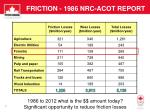 friction 1986 nrc acot report1