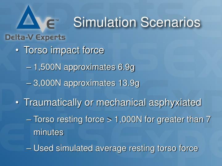 Simulation Scenarios