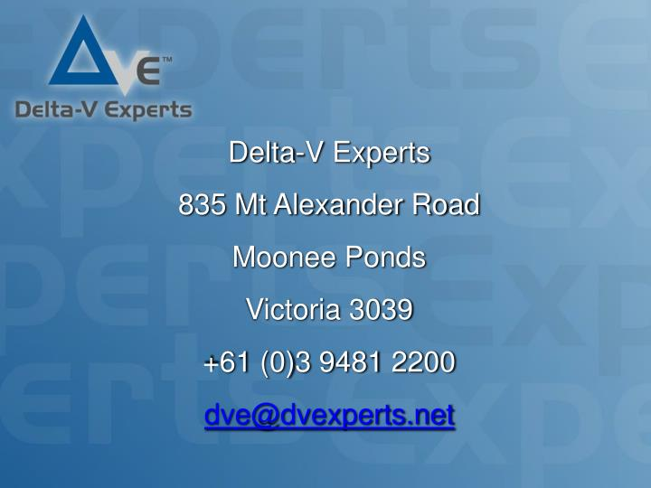 Delta-V Experts