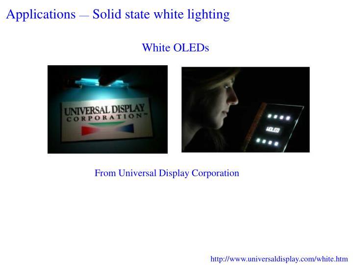 White OLEDs