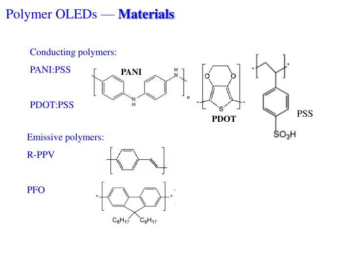 Polymer OLEDs