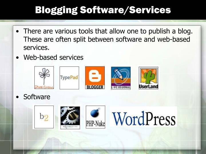 Blogging Software/Services