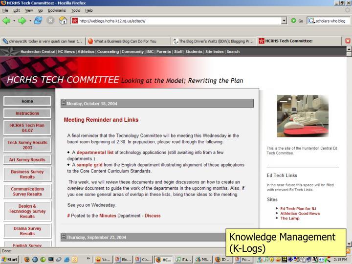 Knowledge Management (K-Logs)