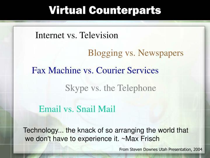 Virtual Counterparts